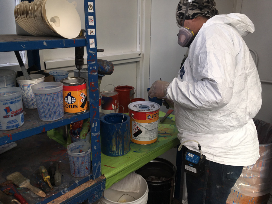 Isocyanate paint evaluation